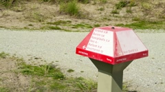 Signpost on a Dutch Island Stock Footage