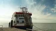 Stock Video Footage of Ferryboat on Ameland, Netherlands