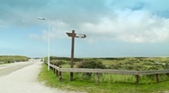Road In The Dunes of Ameland Stock Footage