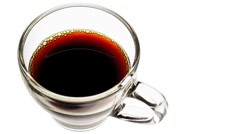 Coffee cup - cup of coffee in glass cup Stock Footage