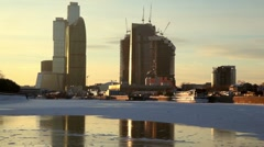 Unfinished City of Moscow Stock Footage