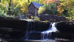 Babcock Grist Mill, WV - stock footage
