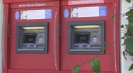 Stock Video Footage of Stationary shot of ATM machine.