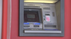 Zooming shot of ATM machine. - stock footage