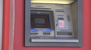 Stock Video Footage of Zooming shot of ATM machine.