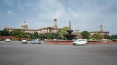 Parliament Building, New Delhi, Delhi, India Stock Footage