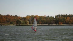 Sail Skier Stock Footage