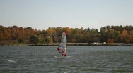 Stock Video Footage of Sail Skier
