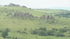 Tors on Dartmoor Stock Footage