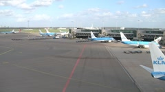 Amsterdam Airport Timelapse Stock Footage