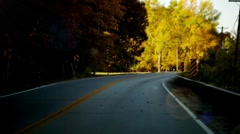 Time Lapsed Drive through the Country Stock Footage