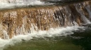 Stock Video Footage of Close up of small waterfall in city