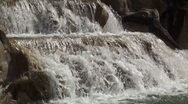 Stock Video Footage of Three steps waterfall in city