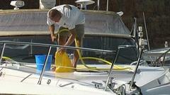 Motor Yacht pal Stock Footage