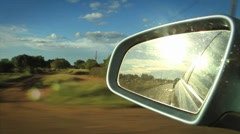 Side Mirror Township Magaliesburg Driveby in South Africa, GFHD Stock Footage