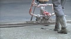 leveling concrete floor 2 - stock footage