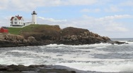 Stock Video Footage of Cape Neddick Lighthouse Maine 3