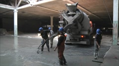 Pouring a concrete floor 2 Stock Footage
