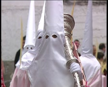 Penitents in processions during Holy week of Spain 2. Stock Footage
