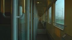 Compartment coach, Intercity, Deutsche Bundesbahn, Germany Stock Footage