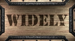 Widely on wooden stamp Stock Footage