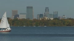 Sailboat Mpls - stock footage