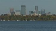 Minneapolis skyline Stock Footage