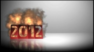 Stock Video Footage of 2012 new year fiery