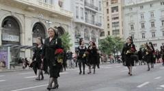 Valencia Parade Stock Footage