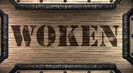 Woken on wooden stamp Stock Footage