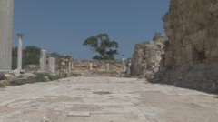 Salamis, ancient Greek city-state, Cyprus Stock Footage