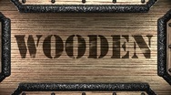 Wooden on wooden stamp Stock Footage