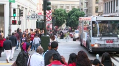 Busy People in San Francisco California Stock Footage