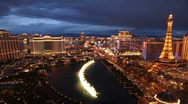 Stock Video Footage of Las Vegas Strip - Dusk