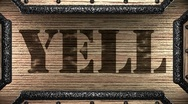 Stock Video Footage of yell on wooden stamp