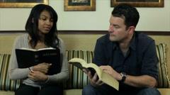 Pan bible study Stock Footage