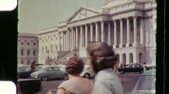 Congress Senate United States Capitol Building 1960s Vintage FilmHome Movie 893 Stock Footage