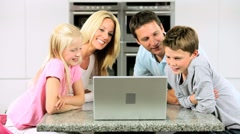 Caucasian Family Having Online Webchat at Home - stock footage