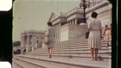 People on US Capitol Building Steps CONGRESS 1960s Vintage Film Home Movie 891 Stock Footage