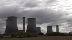 Time lapse clouds behind Didcot Power Station. 3 Stock Footage