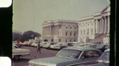American Citizens Tourists US Capitol Building 60s Vintage Film Home Movie 895  Stock Footage