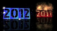 Stock Video Footage of 2011 to 2012 (new year)