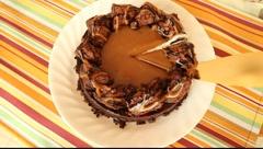 Chocolate cake Stock Footage