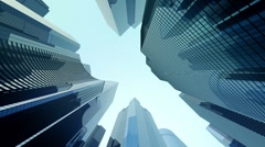 Modern glass offices Stock Footage