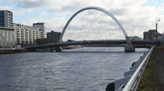 Clyde Arch Glasgow Scotland Stock Footage
