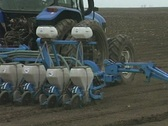 Seed with a tractor Stock Footage