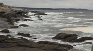 Stock Video Footage of Maine Rocky Shores 2