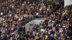 Stadium Crowd Doing The Wave.  Time lapse. Stock Footage