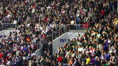 Stadium Crowd Doing The Wave - stock footage