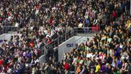 Stadium Crowd Doing The Wave Stock Footage
